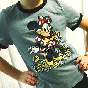 Disney + Abercrombie Kids - Minnie Mouse Ringer T